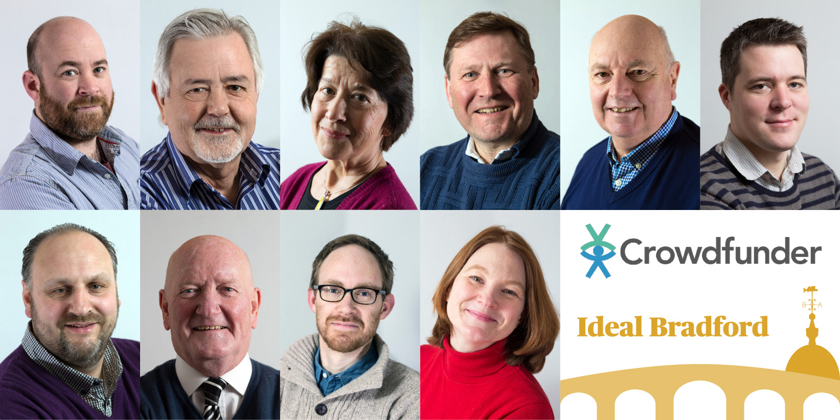 Ideal Bradford's ten candidates, Crowdfunder logo